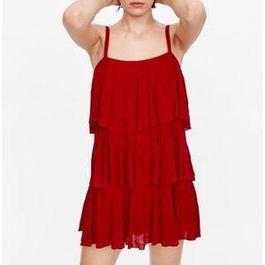 Zara ruffles knit dress